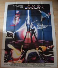 Tron, Original LARGE French Poster, Jeff Bridges, Bruce Boxleitner, '82